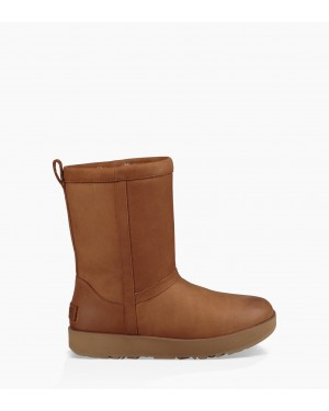 Womens Classic Short Leather Waterproof Boot Chestnut 1017509-CHE