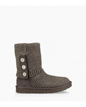 Womens Purl Cardy Knit Boot Charcoal 1094949-CHRC