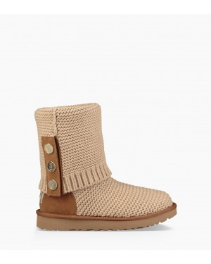 Womens Purl Cardy Knit Boot Cream 1094949-CRM