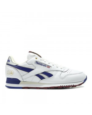 Reebok Classics x Footpatrol x Highs and Lows CL Leather MU white/blue/bordeaux