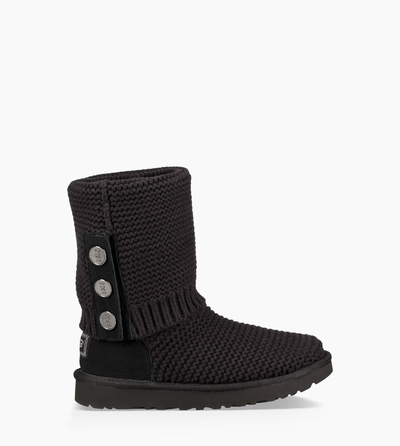 Womens Purl Cardy Knit Boot Black 1094949-BLK