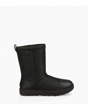 Womens Classic Short Leather Waterproof Boot Black 1017509-BLK