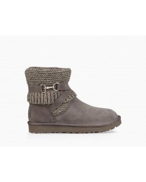 Womens Purl Strap Boot Charcoal 1098080-CHRC