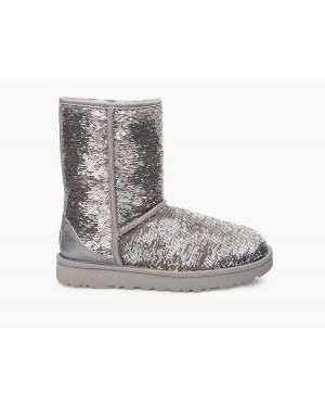 CLASSIC SHORT COSMOS SEQUIN SILVER/GOLD