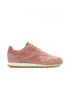 Reebok Classic Leather Clean Exotics Reptile WMNS antique pink/white
